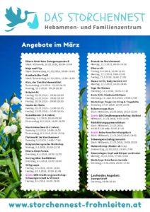 Programm Storchennest März