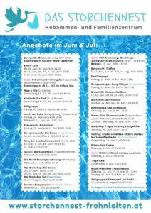 Programm Juli Storchennest