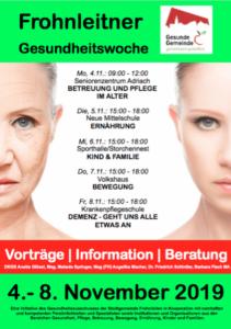 Gesundheitswoche Frohnleiten Gesunde Gemeinde Styria Vitalis Storchennest