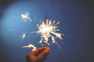 Neujahr Sprühkerze Leuchten