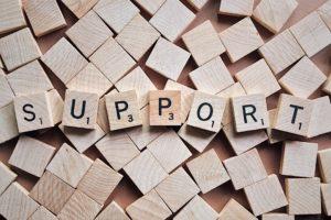 Hilfe Unterstützung Support