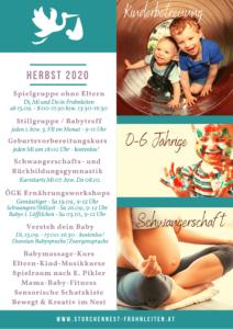 Programm im Storchennest Frohnleiten 2020 Herbst